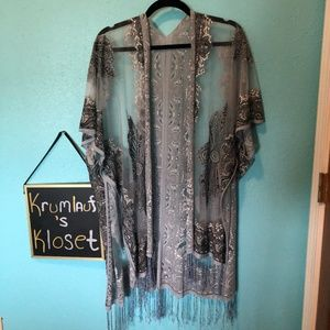 Tops - Sheer Paisley Kimono
